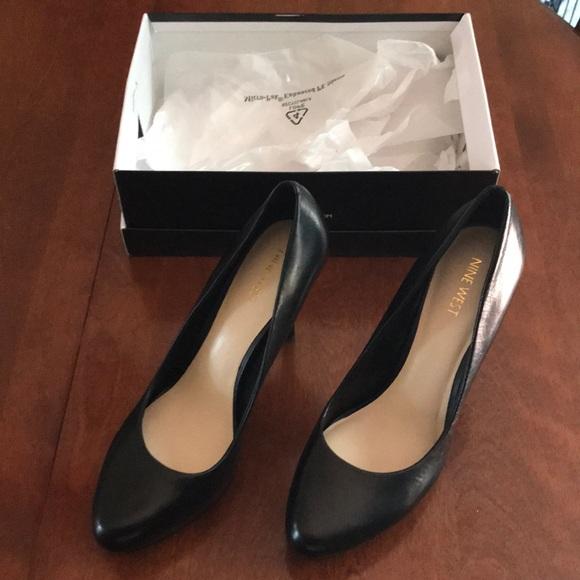 0345fcd3a5d Nine West Kristal black platform heels size 9
